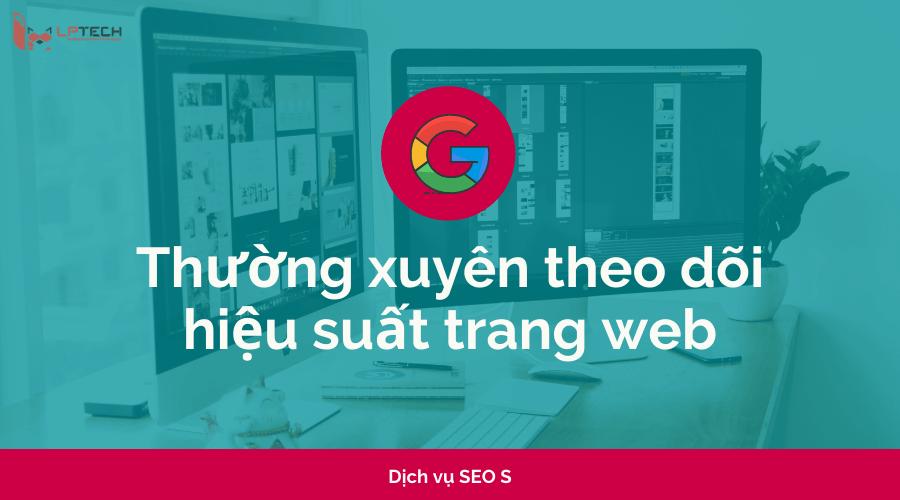 Thường xuyên theo dõi chỉ số hiệu suất trang web