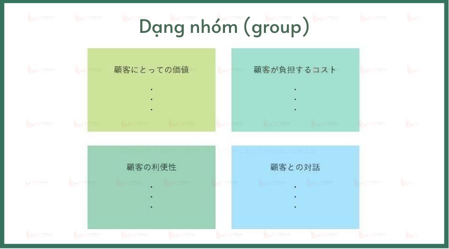 Các loại biểu đồ: List