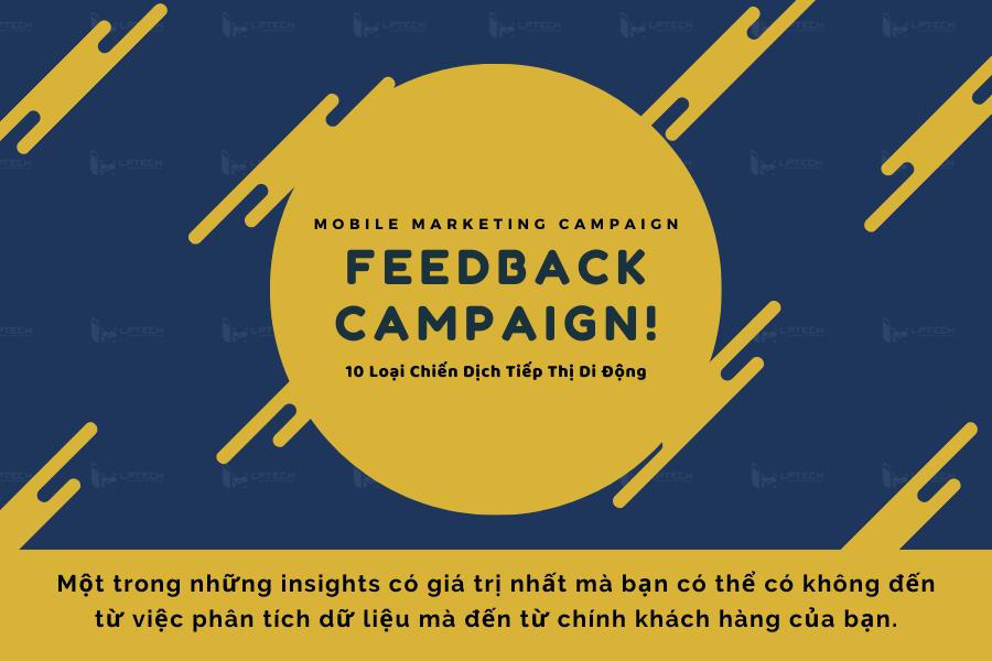 Chiến dịch tiếp thị: Feedback campaign