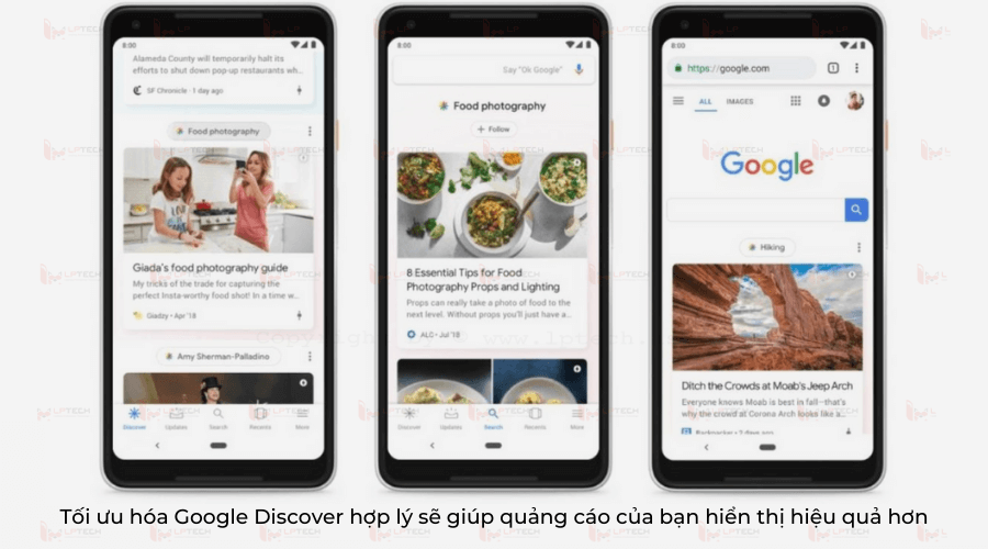 Tối ưu hóa Google Discover hợp lý sẽ giúp quảng cáo của bạn hiển thị hiệu quả hơn