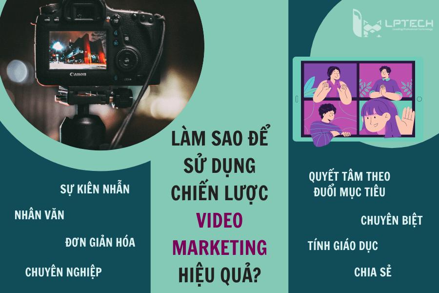 Làm sao để sử dụng chiến lược video marketing hiệu quả?