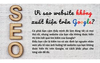 Vì sao website không xuất hiện trên Google?