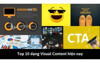 Top 10 dạng Visual Content hiện nay